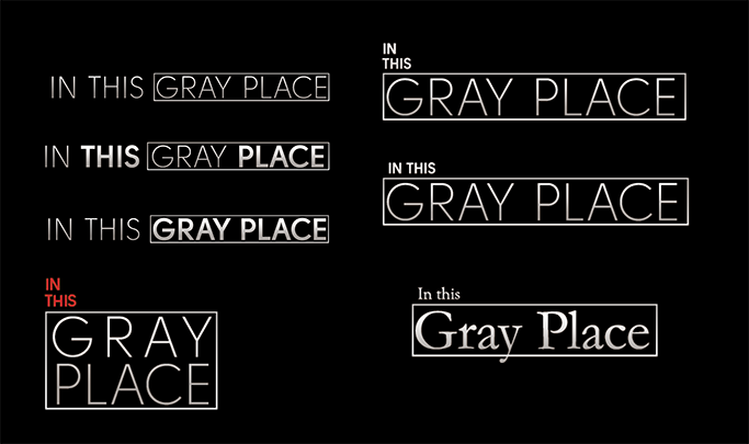 Initial key art iterations for in this gray place