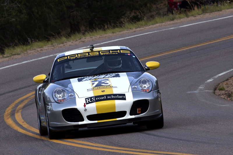 Porche racing to the summit of Pike's Peak in the 2012 Pike's Peak International Hill Climb. Shot August 12, 2012. © 2013 Jon Gardner