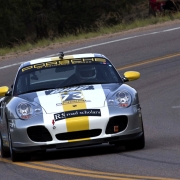 Porche racing in Pikes Peak International Hill Climb